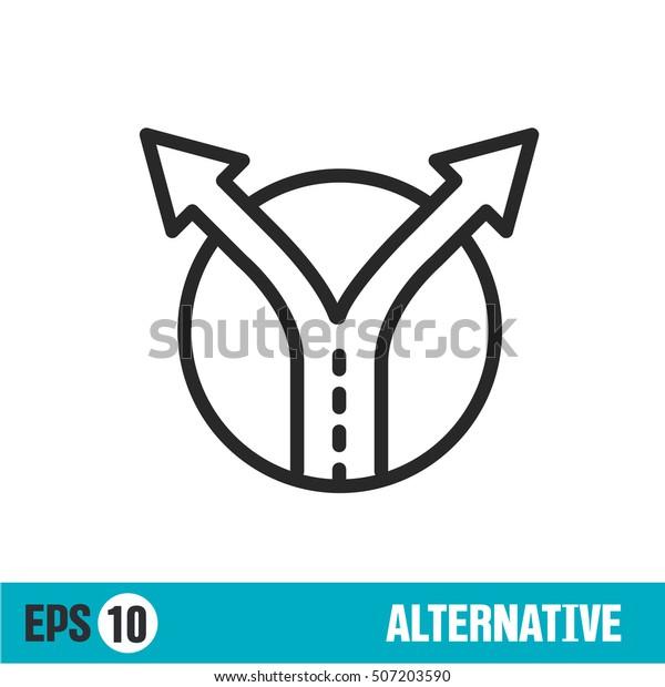 Vector lines icon alternative