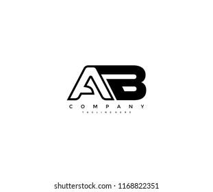 Vector Linked AB Letter Logo Design