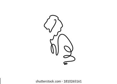 Vector lion illustration can be used for wildlife hunting topic mascot