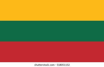 Vector Lithuania flag, Lithuania flag illustration, Lithuania flag picture, Lithuania flag image,