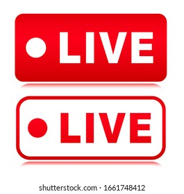 Vector live symbol icon design