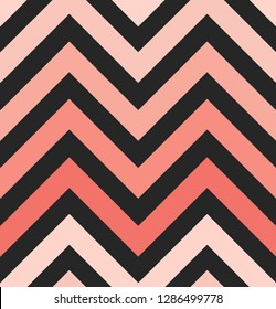 Vector Living Coral Zigzag Seamless Pattern