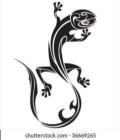 vector lizard-tattoo