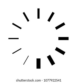 vector loading progress - computer graphic symbol isolated