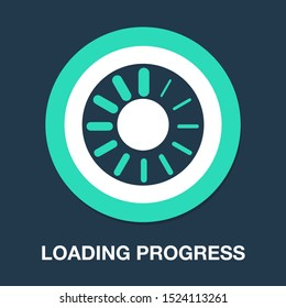vector loading progress - computer graphic symbol isolated