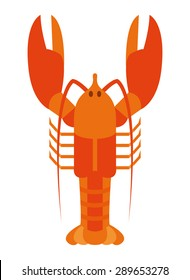 Vector Lobster Illustration Isolated On White Background