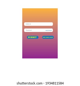 vector login page or user login page