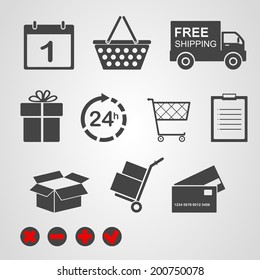 Vector. Logistic & delivery icons.
