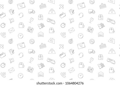 Vector logistics pattern. Logistics seamless background