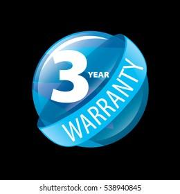 vector logo 3 years warranty