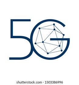 Vector logo for 5G Internet and cellular