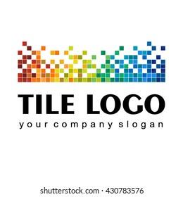 Vector logo abstract design of ceramic tiles