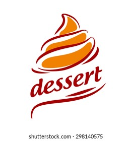 vector logo abstract orange cream