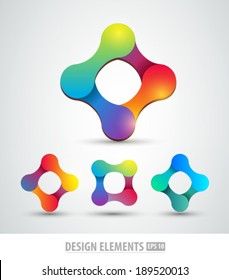 Vector logo abstract shapes. Design elements for corporate sign. Branding elements