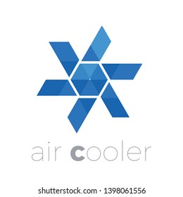Vector logo air cooler, air conditioning, ventilator