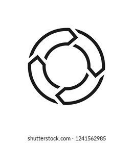 Vector Logo of around Arrow.