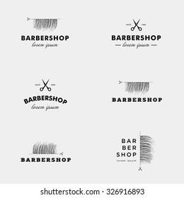 Vector logo for a barbershop.