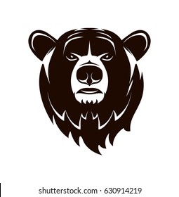Vector logo. Bear head on a white background