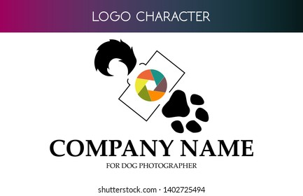 Vector logo for beauty contest and dog agility photographer.
