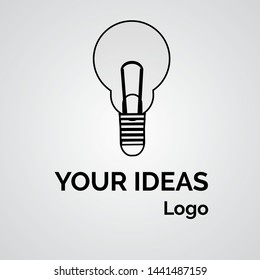 vector logo bulb lights for ideas and solutions. EPS 10.
