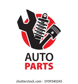 Vector logo of car parts, auto repair