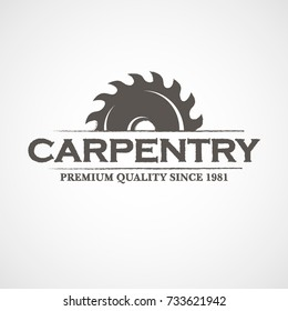 "Vector Logo ""CARPENTRY Premium Quality Since 1981""."