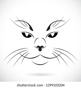The Vector logo cat for design on the white Blackground.