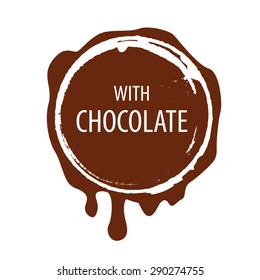 vector logo Chocolate printing for labels