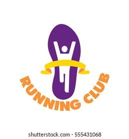 Vector logo City Marathon winner finisher trail Sneakers, finishing tape