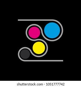 Vector logo CMYK, Printing