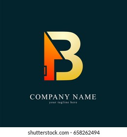 Vector Logo Combine House with Letter  B. Real Estate , Property and Construction logo for Business Sign