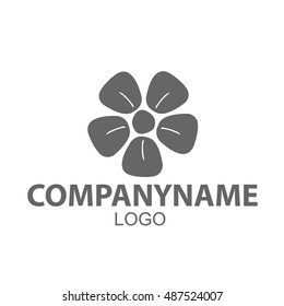 vector logo for companies flower with five petals