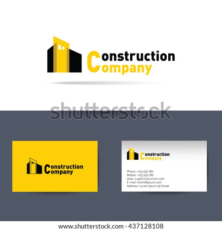 Vector logo construction company business card stock vector royalty vector logo construction company and business card template for construction corporation fbccfo Images