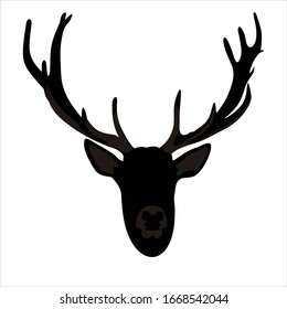 vector logo of a deer head icon