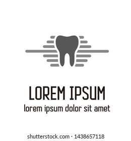 vector logo design about dentistry