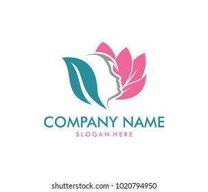 vector logo design for beauty salon, dermatology center, wellness house, skincare, cosmetic, natural, healthy body care service spa, sophisticate and feminine
