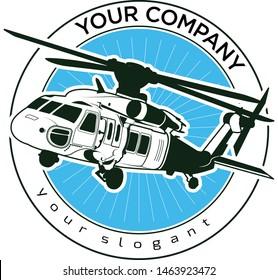 Vector logo design blackhawk helicopter