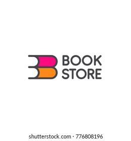 Vector logo design for book store