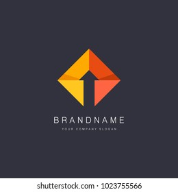 Vector logo design for business. Arrow sign