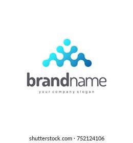 Vector logo design for business. High tech, research and development