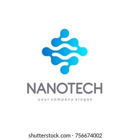 Vector logo design for business. Nanotech, innovation, technology, science