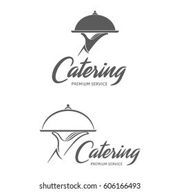 Vector logo design. Catering service