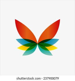 Vector logo design element. Butterfly, creative, abstract