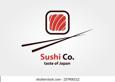 Vector logo design element. Sushi, restaurant, japanese