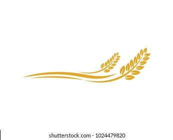 vector logo design and elements of wheat grain, wheat ears, wheat seed, or wheat rye, prosperity symbol