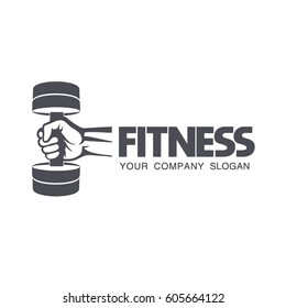 Vector logo design for fitness club