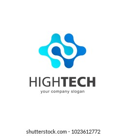 Vector logo design. High technology. Nano technology
