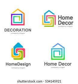 Vector logo design. Home decor, decoration