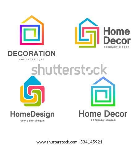 Vector Logo Design Home Decor Decoration Stock Vector Royalty Free