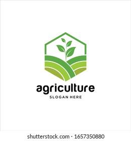 vector logo design illustration of agriculture business, tractor farm, soil farm, crop field, pasture, milk, barn, Emblem, Design Concept, Creative Symbol, Icon.